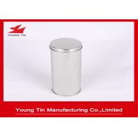 Quality FDA Blank Round Cylinder Metal Tinplate Canister Plain Color For Tea Storage for sale