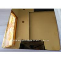China Gold Mirror  Finish Stainless Steel Sheet 4x8 / SS 304 Sheet  For  Elevator Decoration wholesale