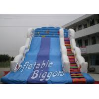 China Custom Blue Kids Inflatable Slides Jumping Bounce Rental With Brazil HR4040 wholesale