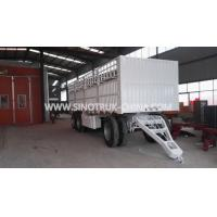 China 8 Wheels 2 Axles Dropside Trailer Color Optional With Triangle Frame and Curtain Side wholesale