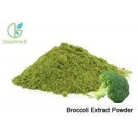 China Natural Broccoli Extract Powder / Freeze Dried Broccoli Sprout Extract Powder on sale