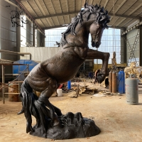 China Life Size Metal Horse Statue Bronze Sculpture Life Size Garden Animal For Sale wholesale