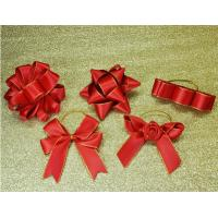 China 3Inch Personalized Tie satin ribbon bow , Floral , Elastic , twist tie gift bow wholesale