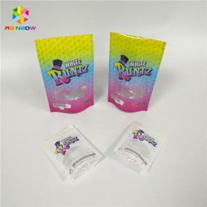 China Smell Proof Recyclable Tea Bags Packaging Zip Lock Window Runtz Laser Hologram wholesale