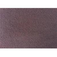 China European Style Double Side Wool Velour Fabric For Winter Wear Wine Color wholesale