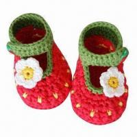 China Hand Crocheted Baby Shoes wholesale