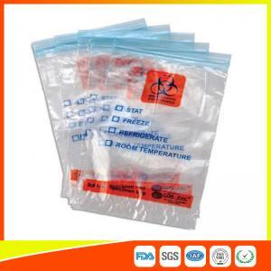China Zip Seal Medical Transport Bags For Hospital , Biohazard Ziplock Bags wholesale