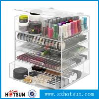 China NEW! DELUXE MAKEUP ORGANIZER - ACRYLIC 5 TIER DRAWER COSMETIC DISPLAY CASE wholesale