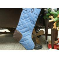China Polyester / Velvet Christmas Stocking , Modern Style Custom Christmas Stockings wholesale