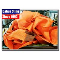 China Durable Synthetic Lifting Slings Eye And Eye , 12 Ton Cargo Lifting Slings wholesale