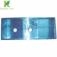 China 0.03-0.15mm Thickness Blue Self Adhesive Protective Film on Stainless Steel without Gluing wholesale