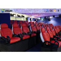 China Interactive Cinemas 5D Movie Theater Be Equipped With Black Motion Seats wholesale