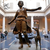 Buy cheap BLVE Bronze Artemis Statue Life Size Greek Woman Diana Copper Sculpture Garden from wholesalers
