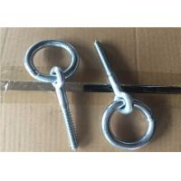 China Zinc Plated Fasteners Forged Eye Bolts / Eye Bolt With Ring Wood Thread Lag Screw wholesale