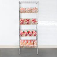 China Organized Display Equipment NSF Slop Slanted Wire Shelving For Retail Shops , Offices , Catering wholesale
