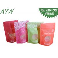 China 1 / 8oz Stand Up Food Packaging Bags Double Track Tab For Dried Flower Tea on sale