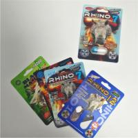 China RHINO 69 Male Enhancement Pill Packaging 3d Lenticular Pack Card Eco - Friendly wholesale