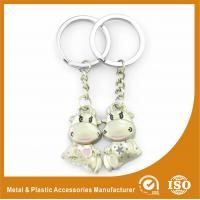 China Cow Custom Metal Keychains Personalized Keychains For Couples wholesale
