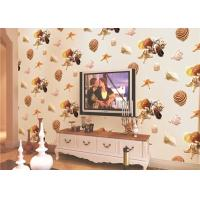 China Eco-Friendly Mediterranean Style Non-Woven Wallpaper With Conch And Starfish Printing wholesale