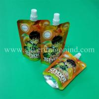 China Stand up spout pouch for 200ml orange juice packing wholesale