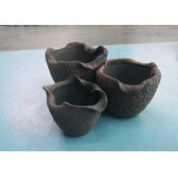 China Green Curly Ceramic Plant Pots , Mouth Decorative Vintage Clay Pottery Environmental Protection wholesale