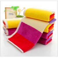 China 35*75cm  420gsm  color bar face towel  cut pile super soft towel face towel on sale
