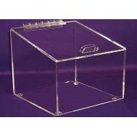 China 3mm Candy Acrylic Display Case Clear , Plexiglass Storage Boxes with Lids wholesale