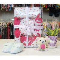 China OEM Organic Cotton Pink NewBorn Baby Girl Shower Gift Sets With Baby Clothes wholesale