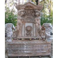 China Garden stone wall fountain carving statue water fountain ,stone carving supplier wholesale