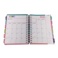 China Hardcover Spiral Planners Printing Custom Journal Notebooks With Tabs wholesale