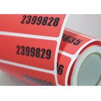 China Void Self Adhesive Tamper Evident Security Labels With Hot Stamping Hologram on sale