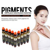 China Multi Color Organic 8ml Semi Permanent Makeup Pigments , Eyebrow Tattoo Ink wholesale