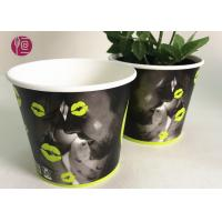 China Custom Blue Design Keep Calm Flower Paper Bowl For Water Plant wholesale