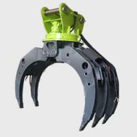 China Excavator Log Grab Excavator Attachment  Wooden Grapple  360 Degree Rotation wholesale