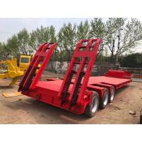 China Gooseneck Lowboy Low Bed Truck Trailer Used Flatbed Trailer 3 Axle 40T 50T on sale