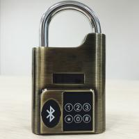 China High Security Intelligent Bluetooth Door Alarm Lock Smart Travel Luggage Padlock wholesale