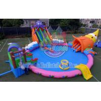 China 18M Octopus Inflatable Water Park Sports Deisgn Build Portable CE 14960 wholesale