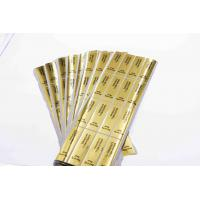 China Gold Round Security Self Adhesive Hologram Sticker Labels Semi Gloss Paper wholesale