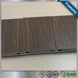 China ECO Friendly Wood Grain Aluminum Composite Panel , Composite Metal Panel Exterior Wall Decoration wholesale