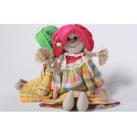 China Eco-friendly 100% linen fabric girl doll Hand-stitched toy gift for home decoration wholesale