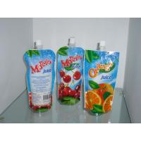 Quality Custom Sky Blue Plastic Spout Pouch Packaging Orange Juice Drink Packaging for sale