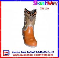 China Polyresin Girl's Boot Figurines wholesale