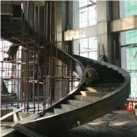 China Large Pre Engineering Steel Spiral Staircase Solid I Beam Shock Resistance wholesale