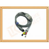 China 6 Pin One Piece Reusable ECG Patient Cable 5 Lead Defib , PVC Insulation wholesale