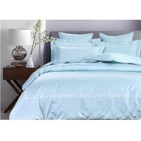 China Simple Embroidered Twin Size Bedding Sets 100% Cotton 4 Pcs For Home / Hotel wholesale