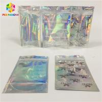China Clear Window Cosmetic Packaging Bag Customized Printing Plastic Hologram Mylar Pouch wholesale