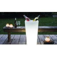 China Square Shape PE Made Glowing Outdoor Party Ice Bucket wholesale