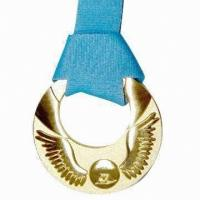 China Colorful Custom Sports Medals Sport Carnival Fiesta Type Bronze Material With Ribbon on sale