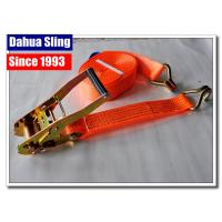 China J Hook Auto Ratchet Tie Down Straps 5000 Lb Ratchet Straps 100% Polyester wholesale