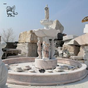 China Large Lady Water Fountain Marble Garden Fountains Natural Stone Handcarved Outdoor Decoration wholesale
